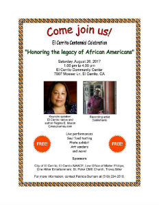 CENTENNIAL FESTIVAL OF THE AFRICAN-AMERICAN LEGACY, COMMUNITY CENTER, AUGUST 26
